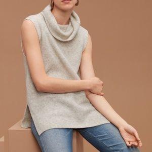 Aritzia Community sleeveless funnel-neck sweater